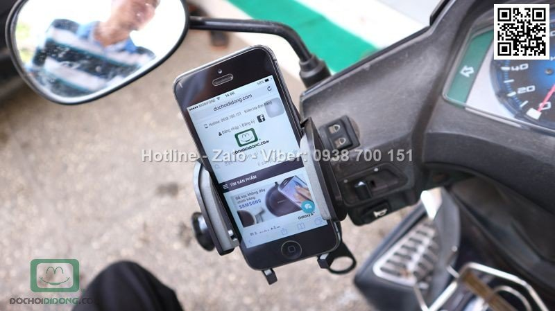 Giá đỡ điện thoại Baseus Wind Series xe đạp xe máy