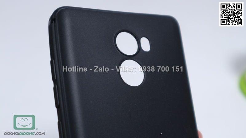Ốp lưng Xiaomi Redmi 4 dẻo nhám đen siêu mỏng bảo vệ camera