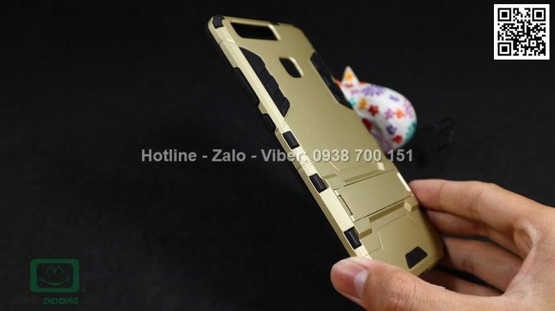 Ốp lưng Huawei P9 Iron Man chống sốc có chống lưng