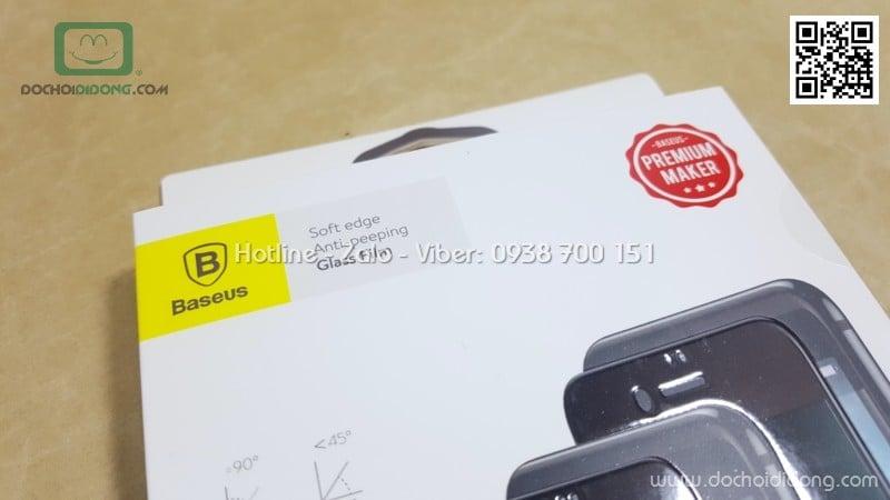 Miếng dán cường lực chống nhìn trộm iPhone 7 Plus Baseus full màn hình