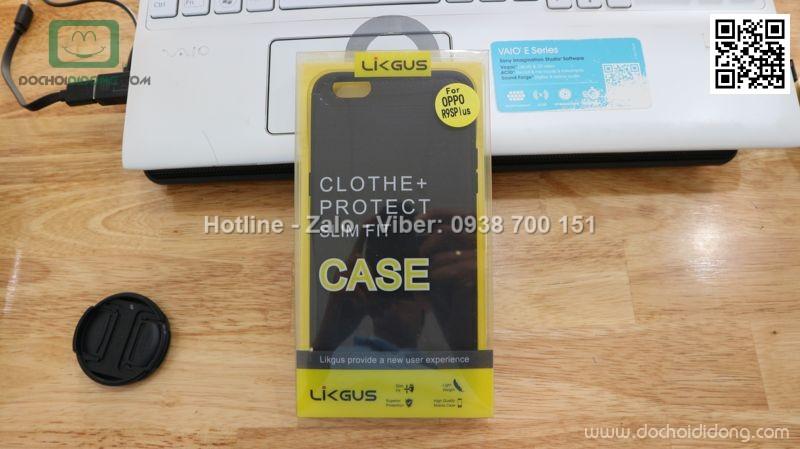 Ốp lưng Oppo F3 Plus Likgus chống sốc vân kim loại
