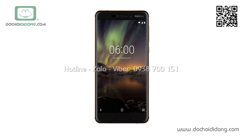 Miếng dán mặt lưng Nokia 6 2018 vân carbon