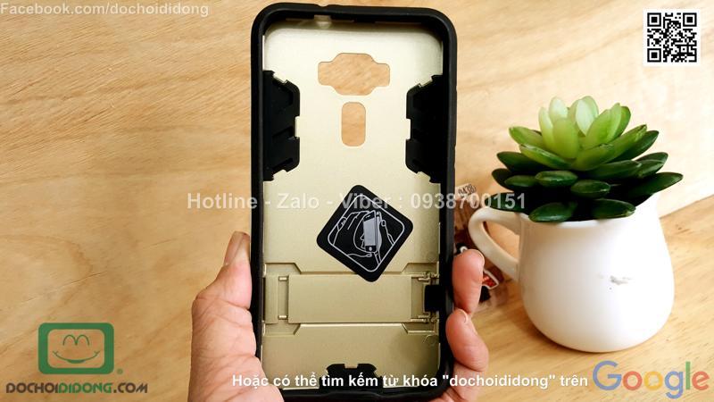 Ốp lưng Asus Zenfone 3 ZE520KL 5.2 Inch Iron Man chống sốc có chống lưng