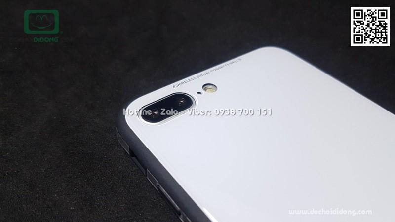 Ốp lưng iPhone 7 8 Plus Sulada lưng kính cường lực viền mềm