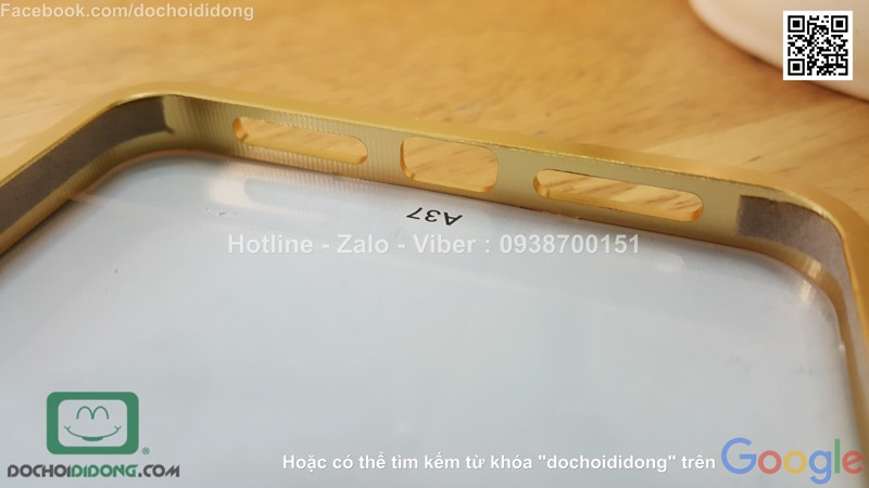 Ốp lưng Oppo Neo 9 viền nhôm lưng tráng gương