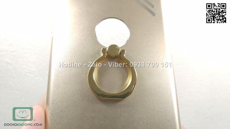 Ốp lưng iPhone 8 Plus vỏ nhôm chống sốc có nhẫn đeo tay