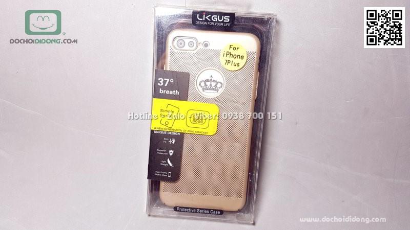 Ốp lưng iPhone 7 8 Plus Likgus lưng lưới chống nóng