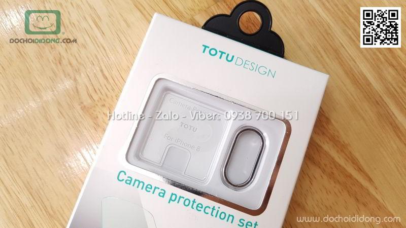 Miếng dán cường lực camera iPhone X Totu kèm ốp viền bảo vệ camera