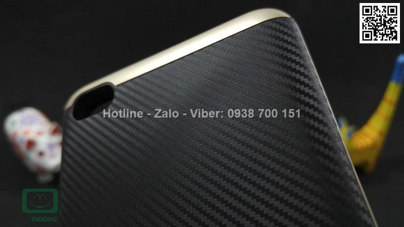 Ốp lưng Xiaomi Redmi 4 Likgus chống sốc vân carbon