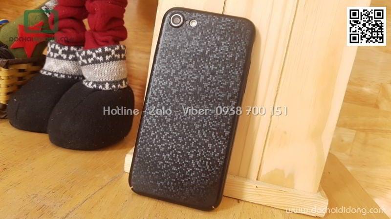 Ốp lưng iPhone 8 Baseus Plaid lưng vân lấp lánh