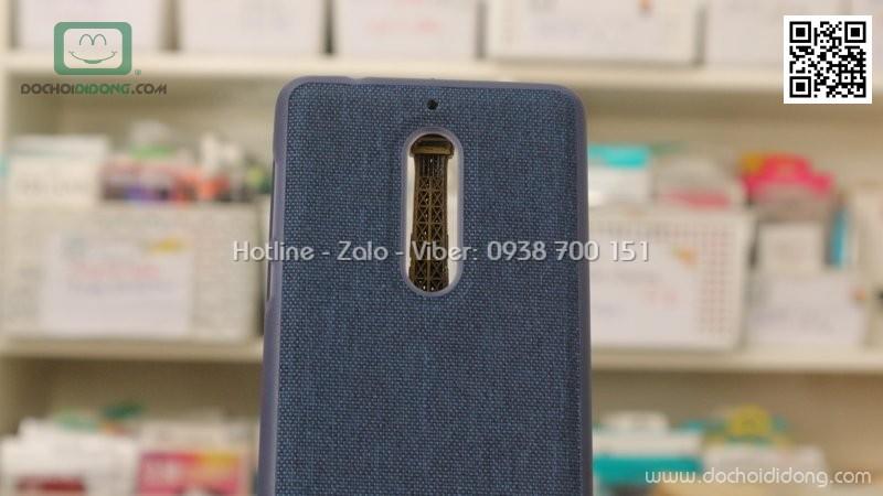 Ốp lưng Nokia 5 dẻo vân vải bố