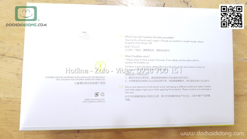 Miếng dán cường lực iPhone 7 8 Benks V Pro full màn hình