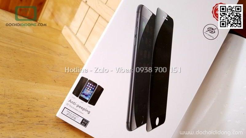 Miếng dán cường lực chống nhìn trộm iPhone 7 Baseus full màn hình
