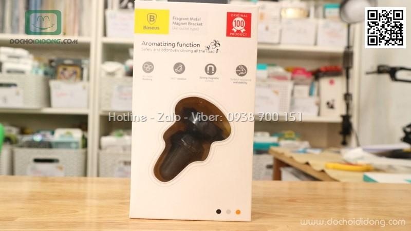 Đế hít điện thoại nam châm hiệu Baseus gắn khe máy lạnh phiên bản chân dài