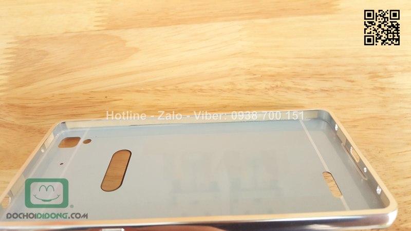 Ốp lưng OPPO R7 viền nhôm lưng tráng gương