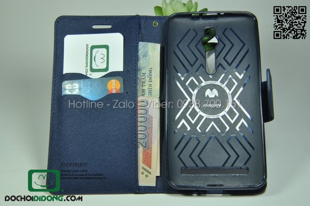 Bao da Asus Zenfone 2 ZE551ML Mercury quai gài may mép