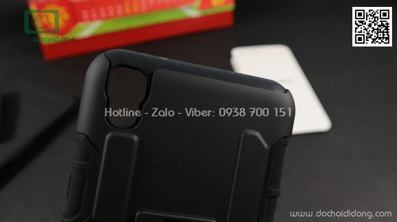Ốp lưng LG X Power siêu chống sốc kèm đế đeo lưng