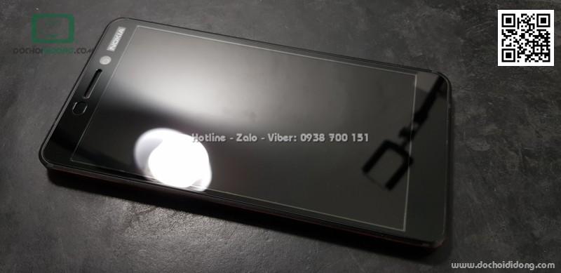 Miếng dán cường lực Nokia A6 2018 full màn hình Zacase full keo