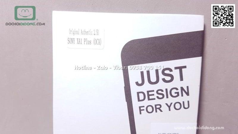 Miếng dán cường lực Sony XA1 Plus Qii keo mềm
