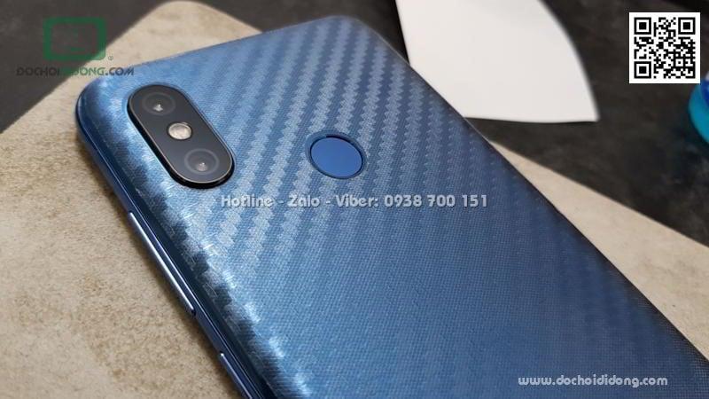 Miếng dán mặt lưng Xiaomi Mi 8 vân carbon