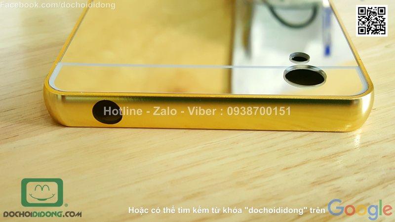 Ốp lưng Vivo Y51 viền nhôm lưng tráng gương