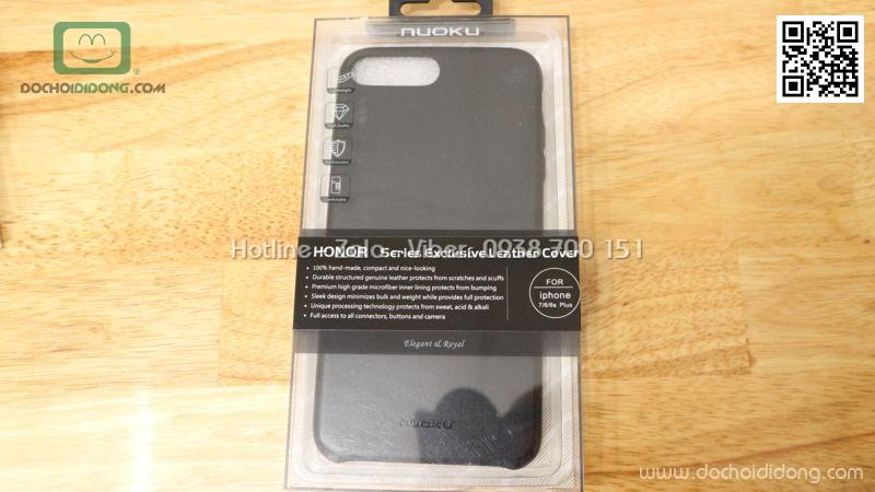 Ốp lưng iPhone 8 Plus Nuoku bọc da