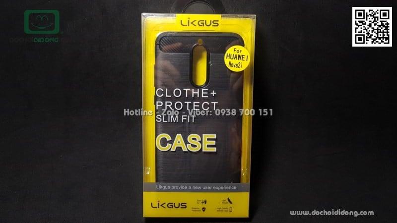 Ốp lưng Huawei Nova 2i Likgus chống sốc vân kim loại