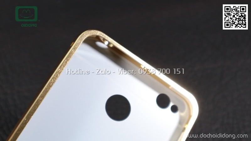 Ốp lưng Xiaomi Redmi 4X viền nhôm lưng tráng gương