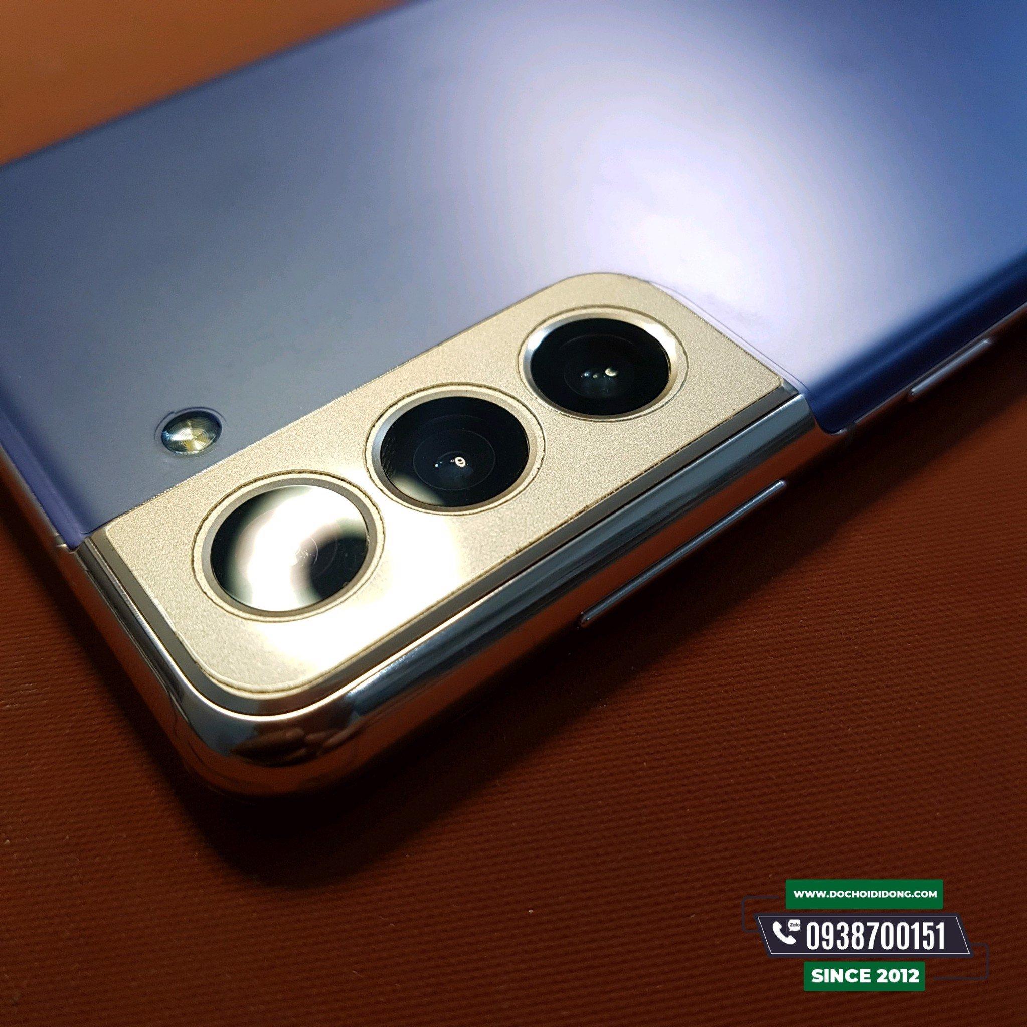 Miếng dán cường lực camera Samsung S21/ S21 Plus/ S21 Ultra khoét lỗ sợi thủy tinh siêu bền