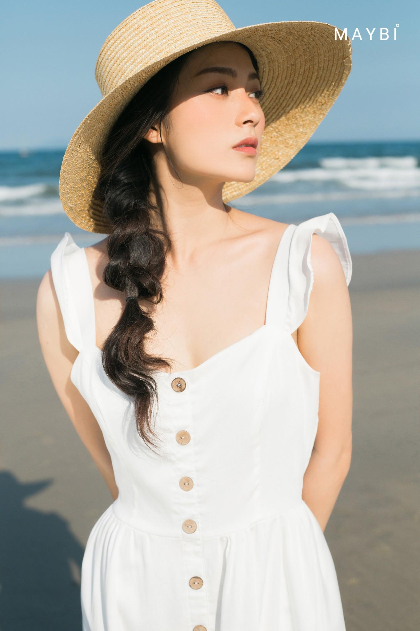 Đầm lụa trắng - Tulip White Dress
