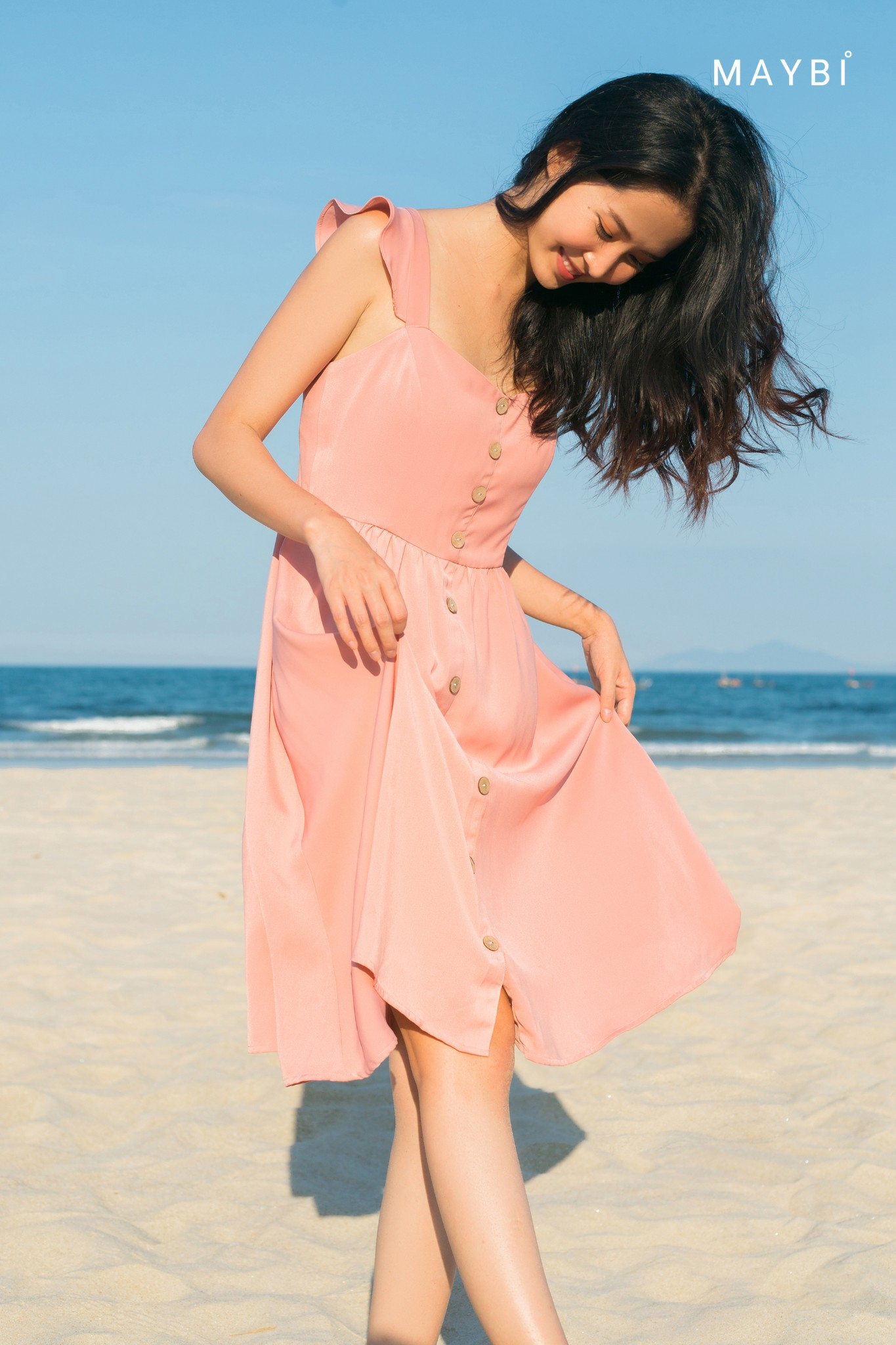 Đầm lụa hồng cánh tiên - Tulip Pink Dress