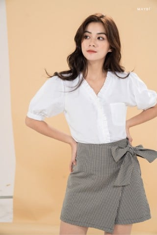 Quần sọc caro chắp tà - Tiny Checked short