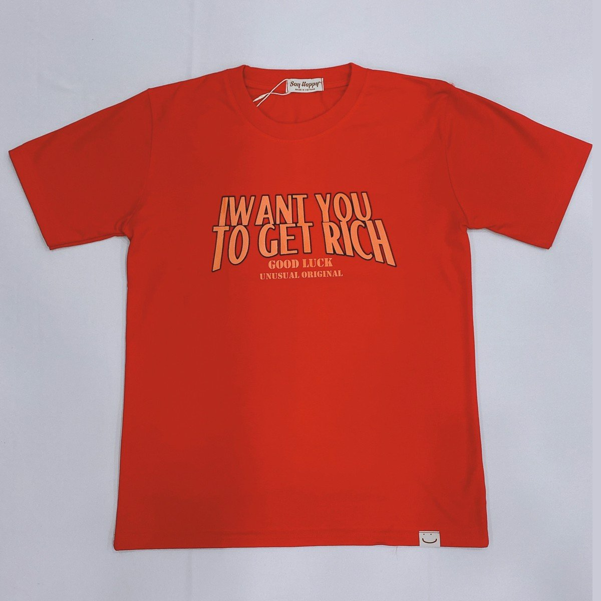 Say Happy Tshirt - Áo thun đỏ form medium in hình