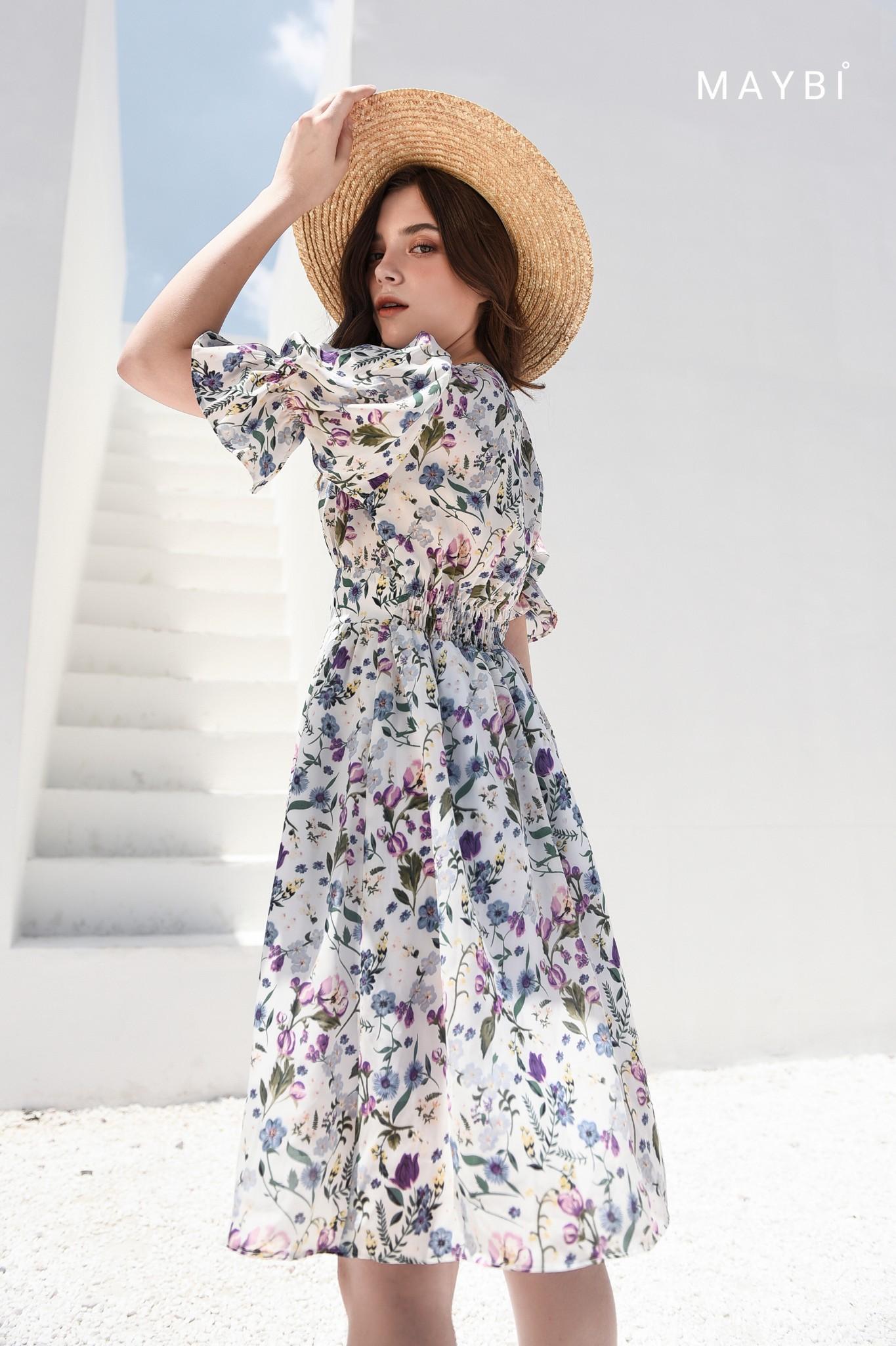 Đầm trắng nhún eo - Jempera Dress