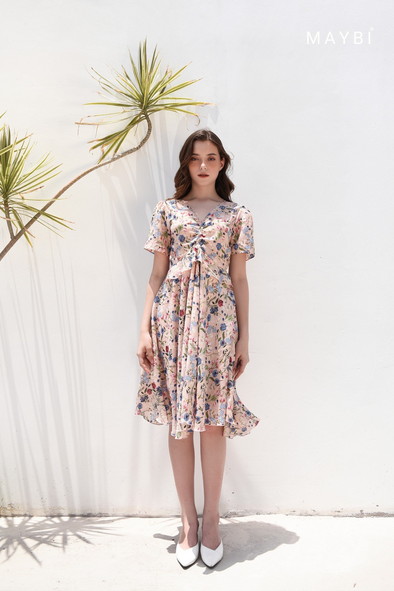 Đầm hồng bèo eo - French Rose Dress