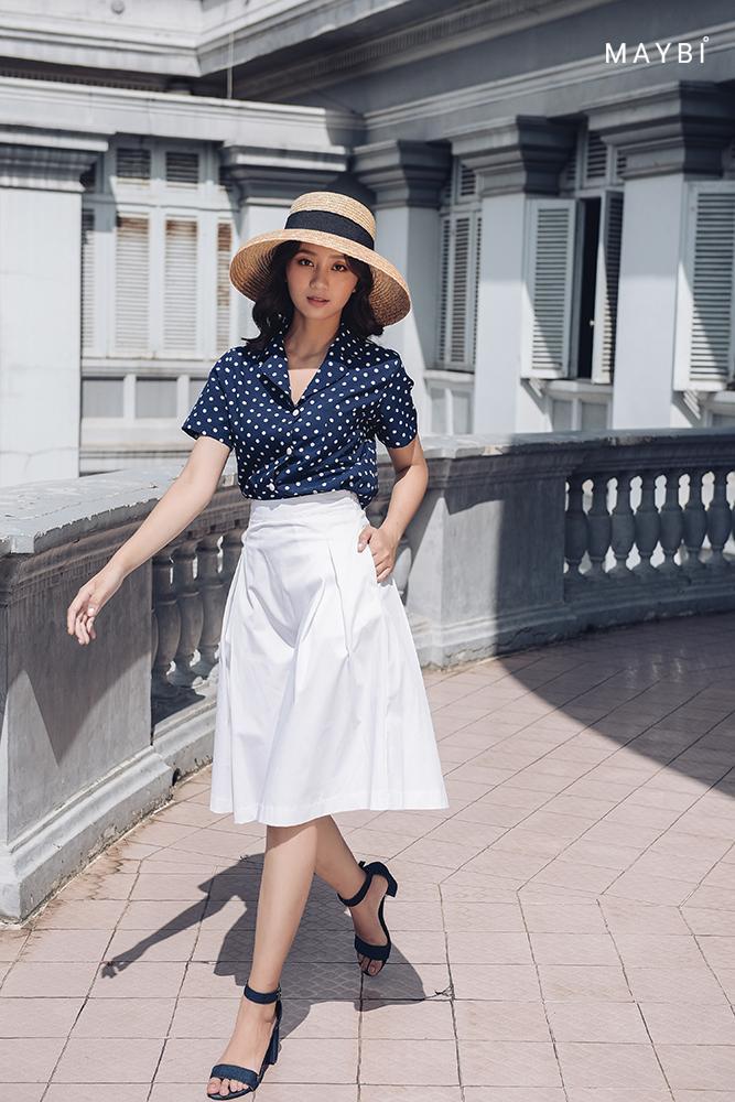 Chân váy xếp ly trắng - Creamy White Skirt