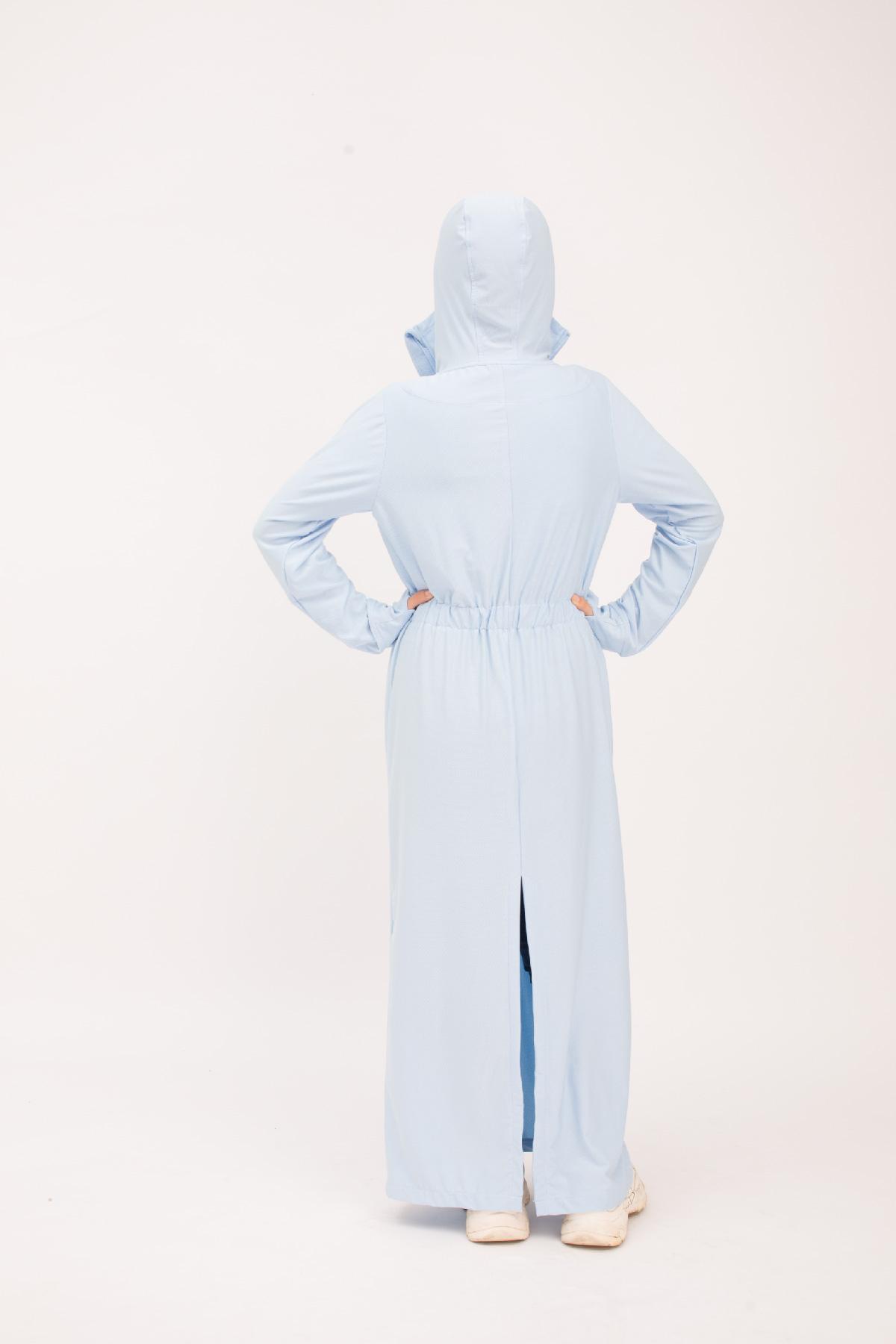 Áo chống nắng toàn thân xanh