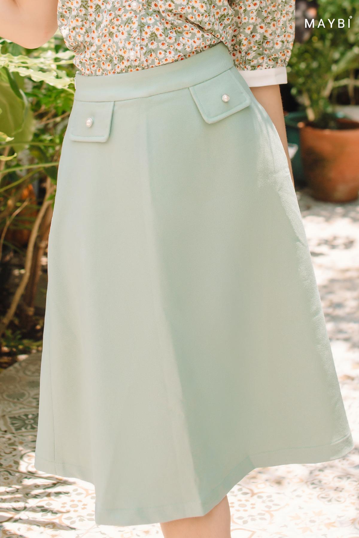 Chân váy A 2 nắp túi Utillity Skirt