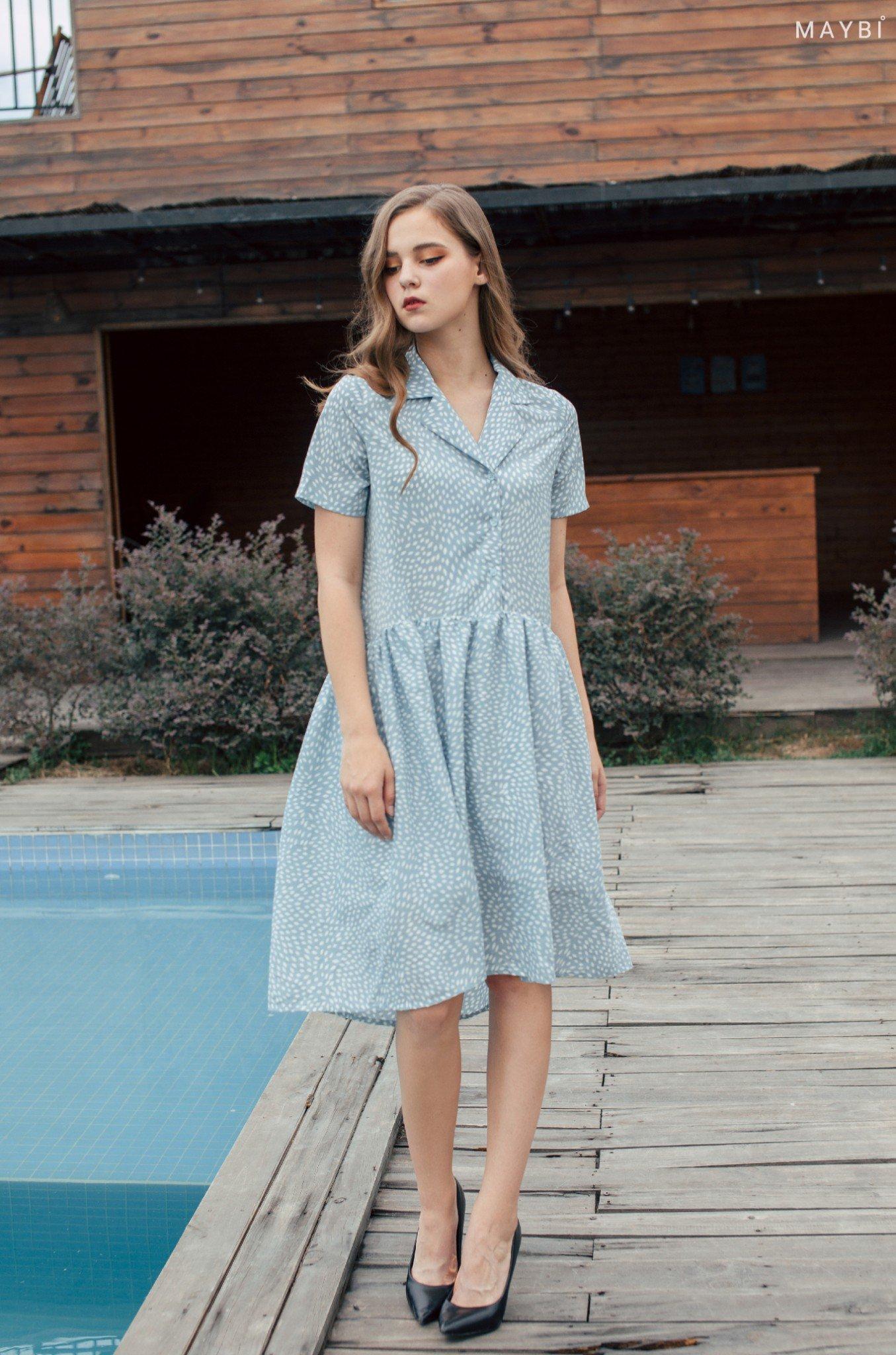 Đầm nhún tùng xanh - Mintress Dress
