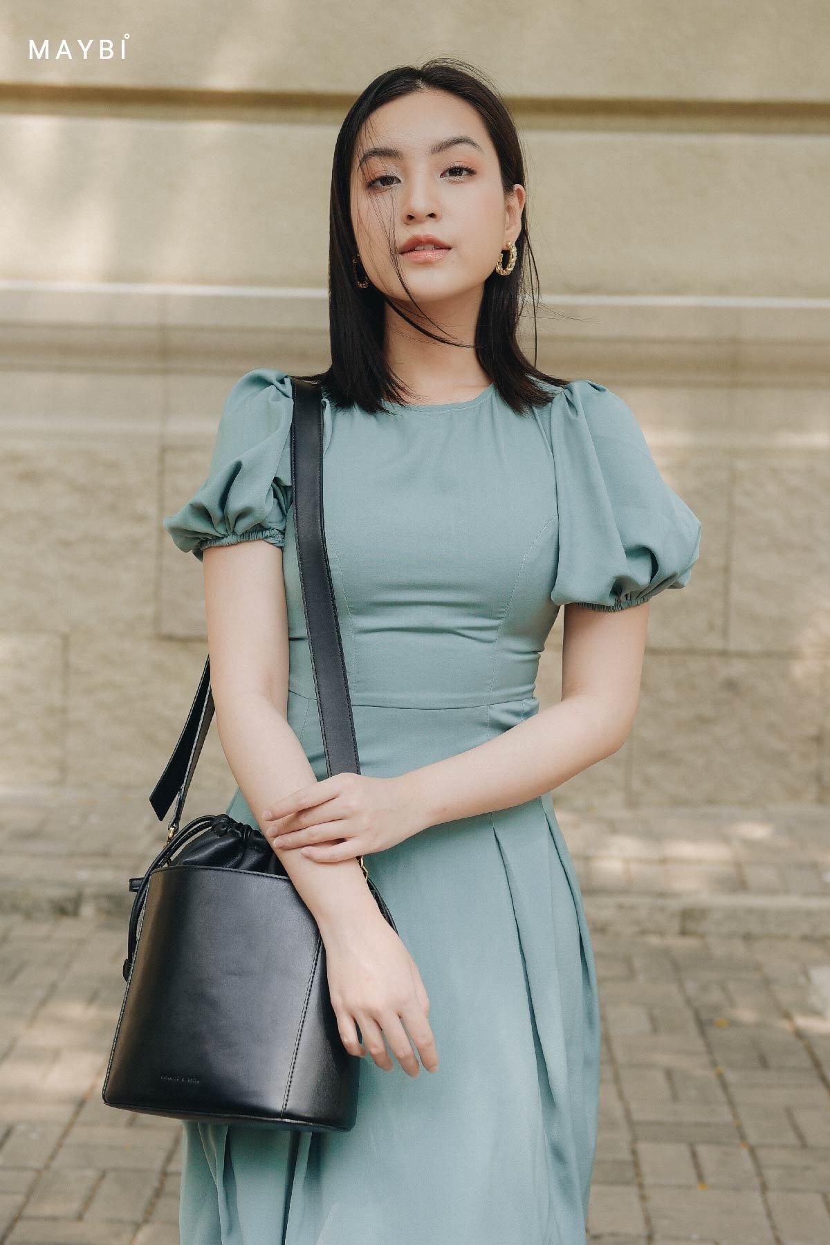 Đầm phom dài xanh mint Martha Mint Dress
