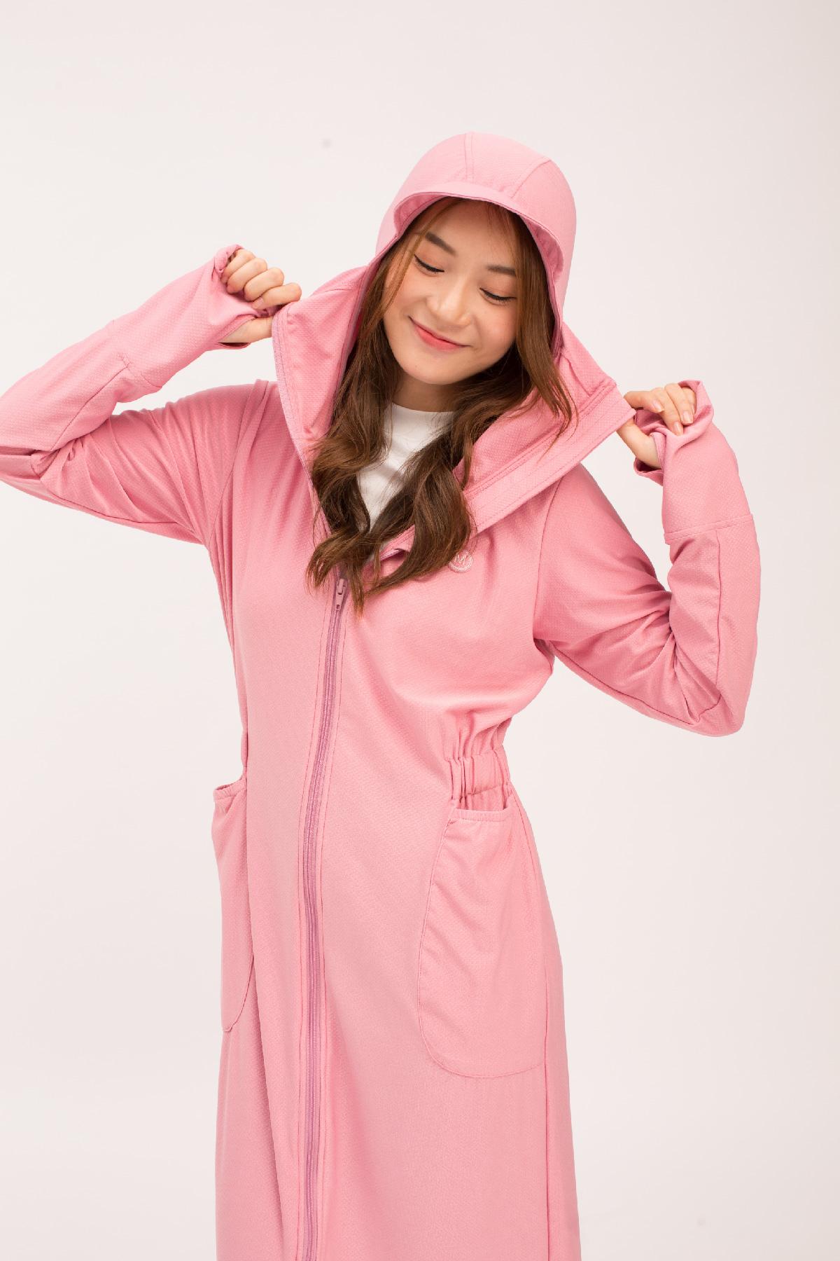 Áo chống nắng toàn thân hồng