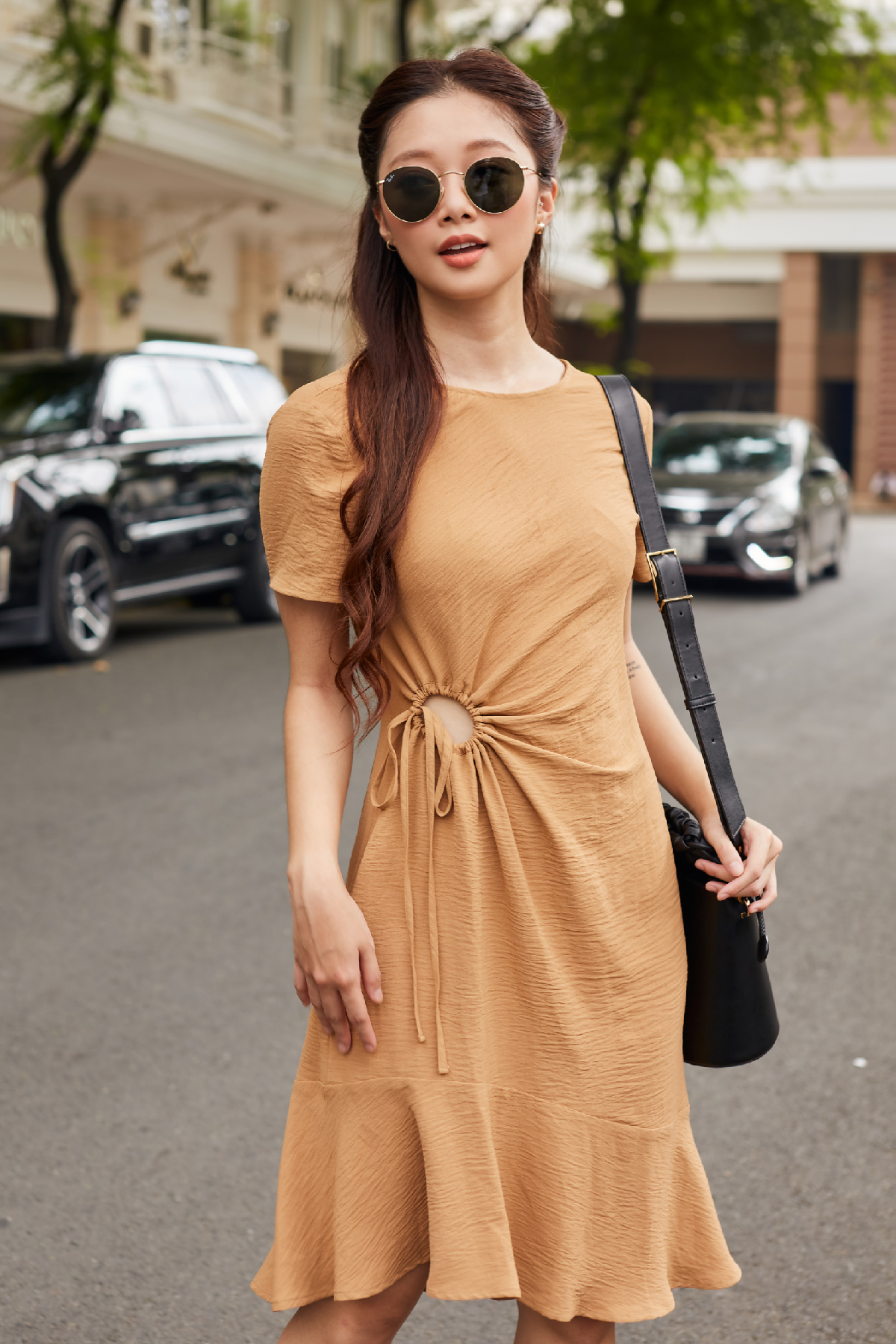 Đầm rút dây tròn  Rollude Dress