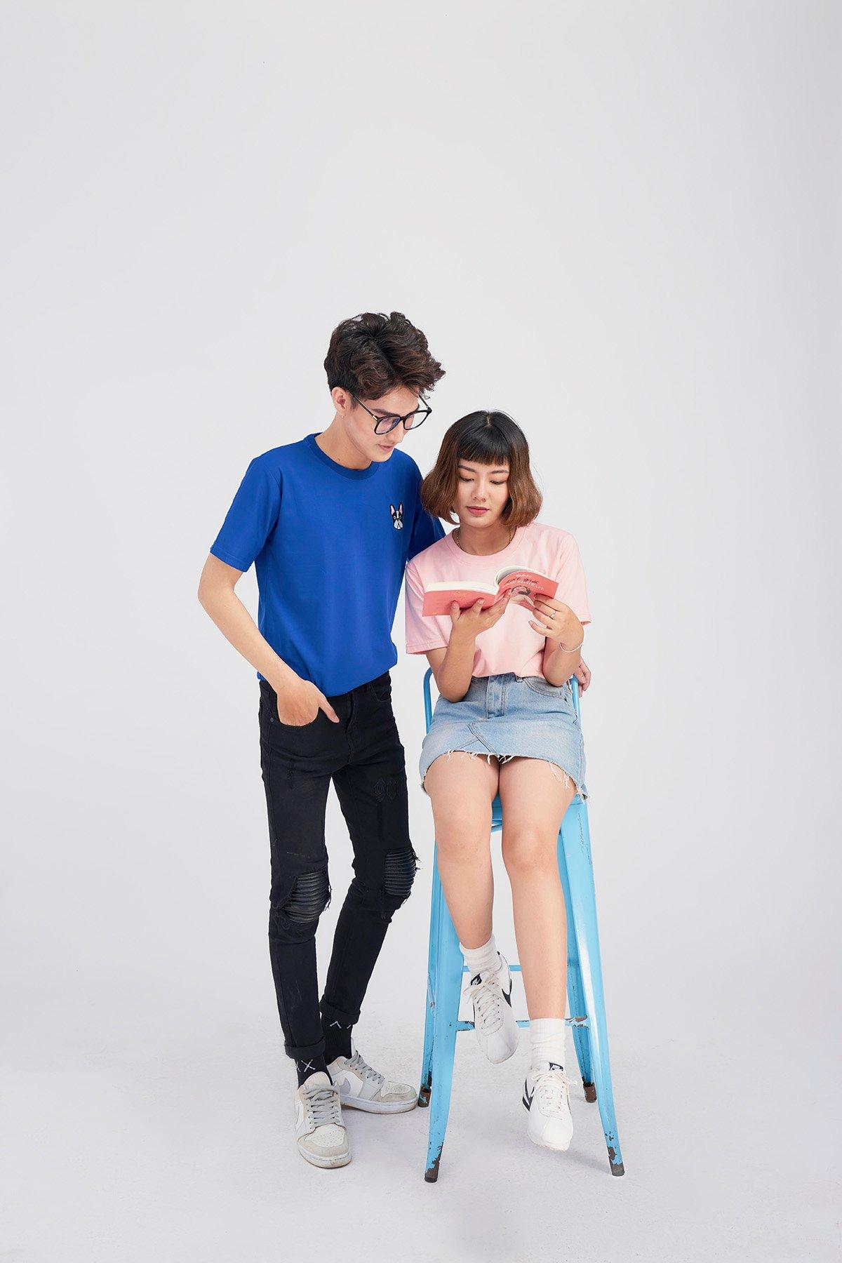 Say Happy Tshirt - Áo thun hồng nhạt form medium thêu