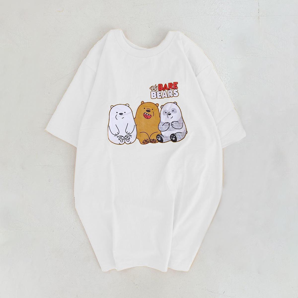 Say Happy Tshirt - Áo thun trắng form medium in hình