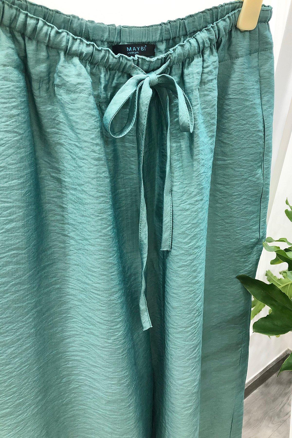 Quần ống rộng xanh ngọc Wedgewood trousers