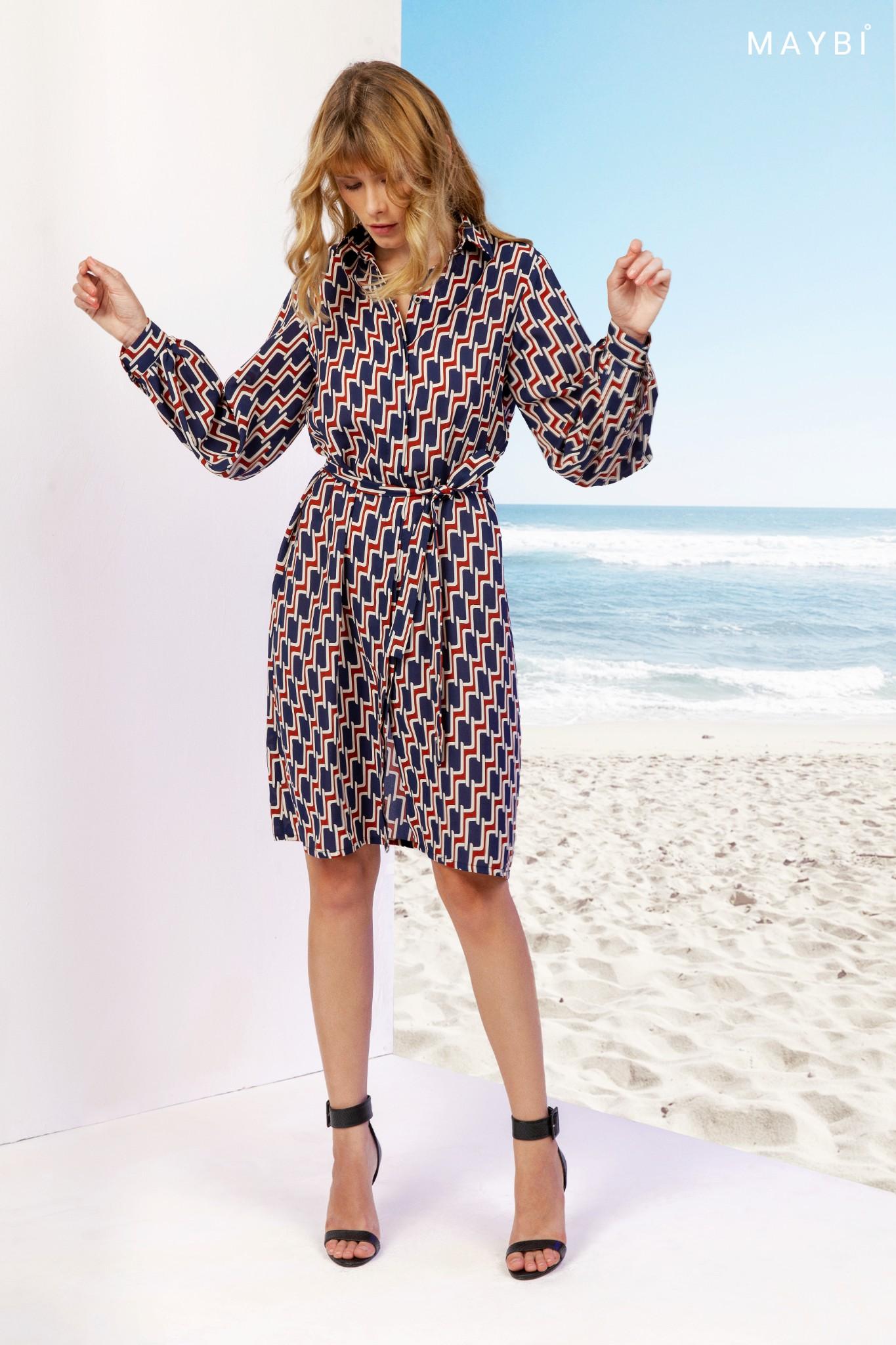 Đầm sơ mi họa tiết - Chrissy Taffy Shirt Dress