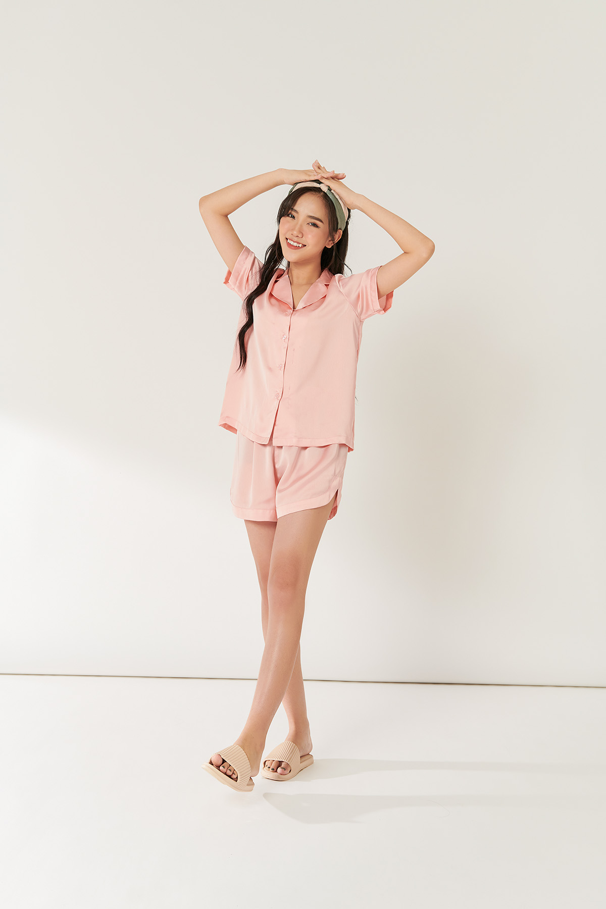 Bộ Pyjama hồng - Pink short sleeves pyjama