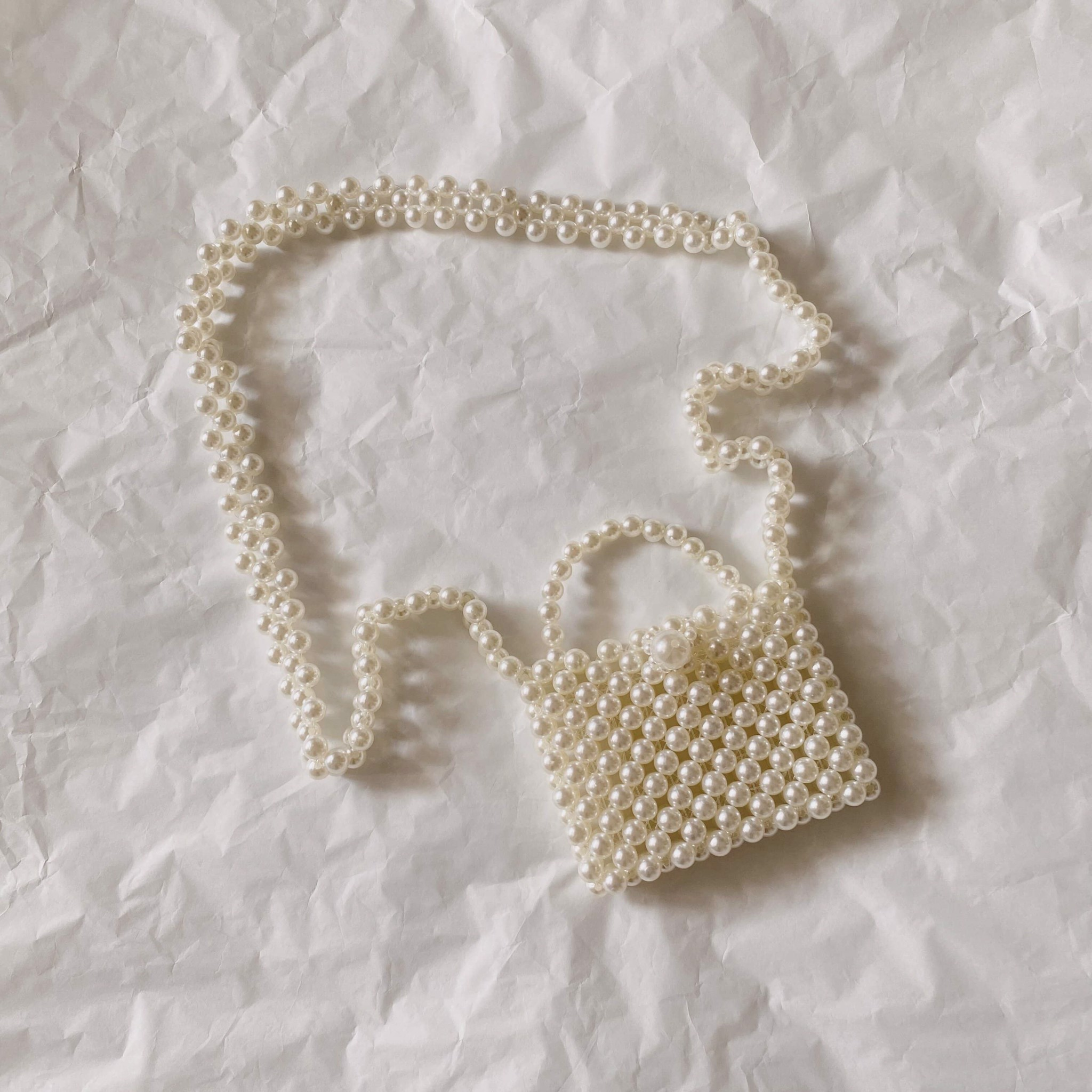 Lily of the valley - Mini pearl Bag