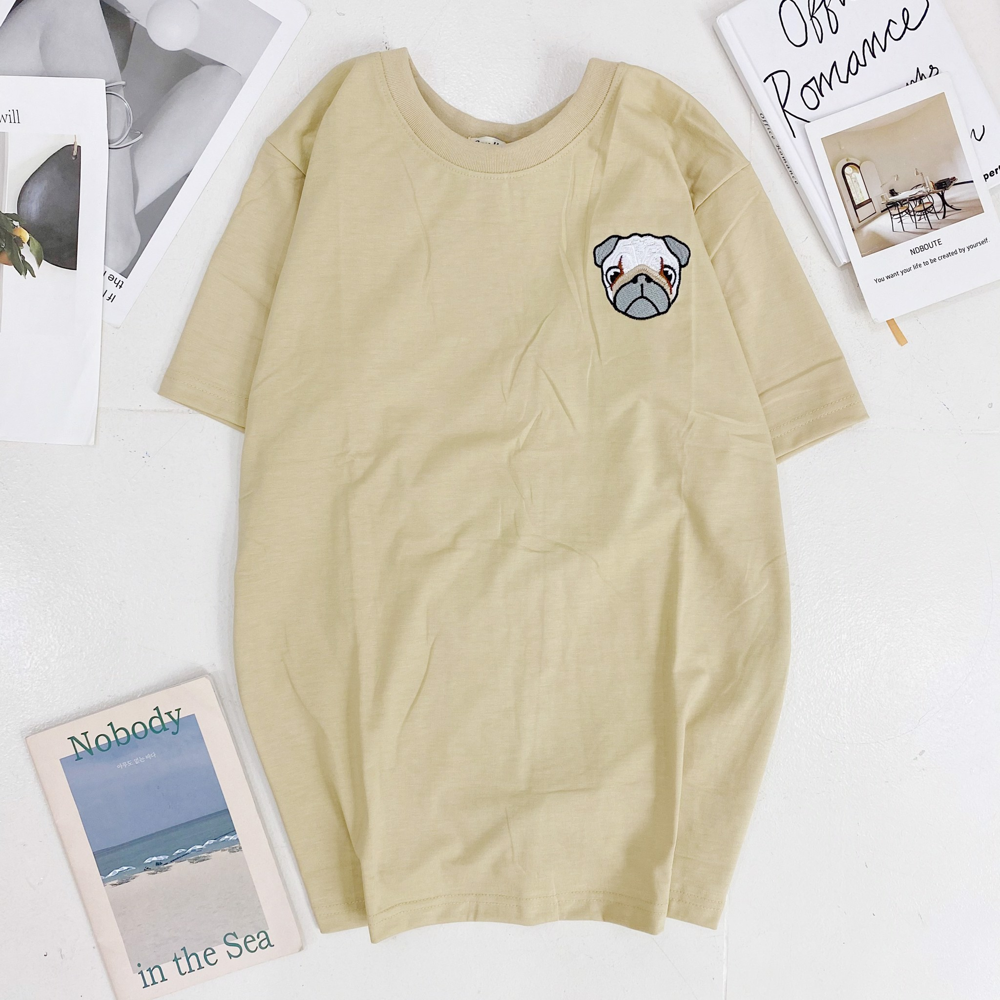 Say Happy Tshirt - Áo thun nude form medium thêu