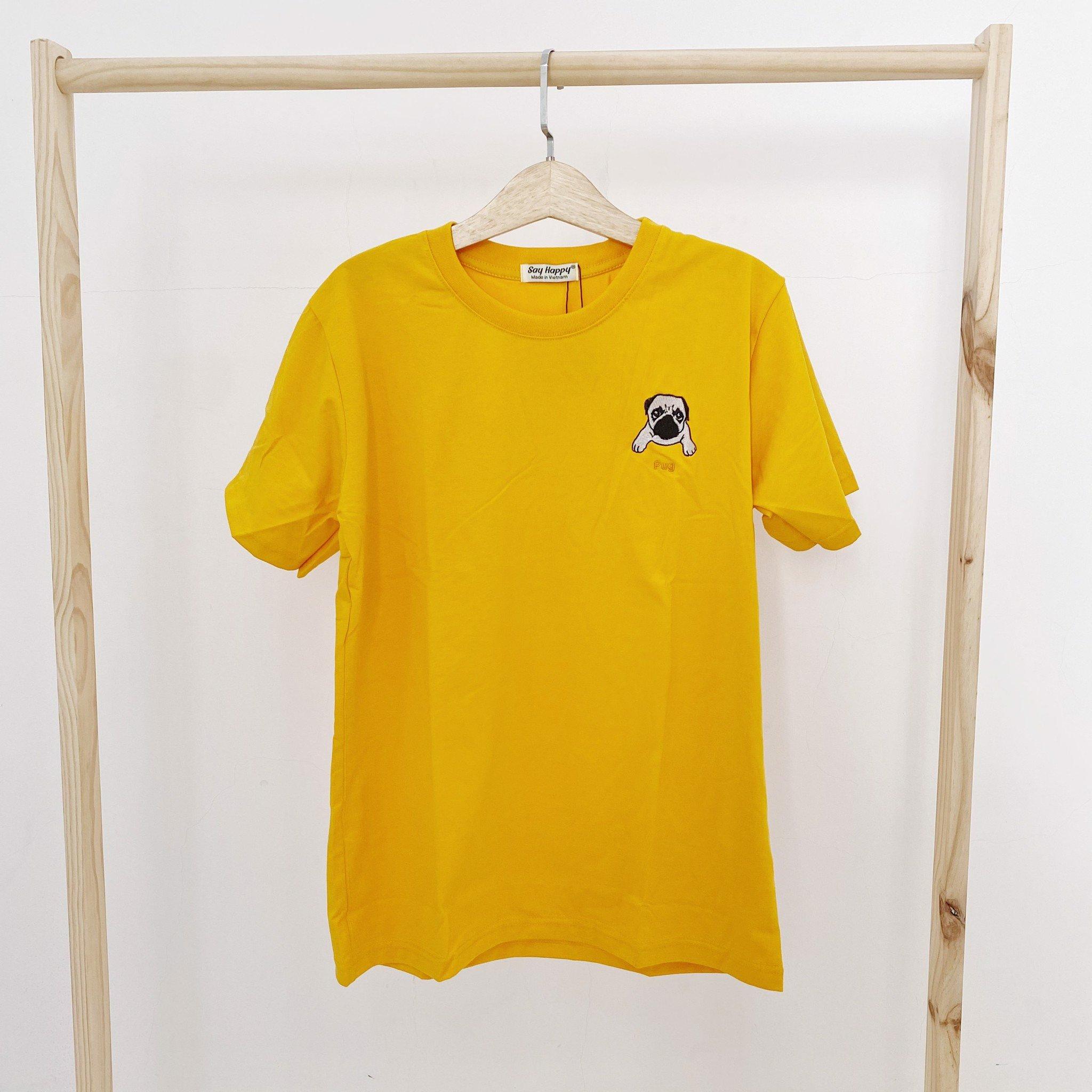Say Happy Tshirt - Áo thun vàng form medium